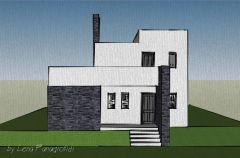 Τρισδιάστατος σχεδιασμός προσέγγισης εξωτερικών όψεων κατοικίας στα Επτάνησα.